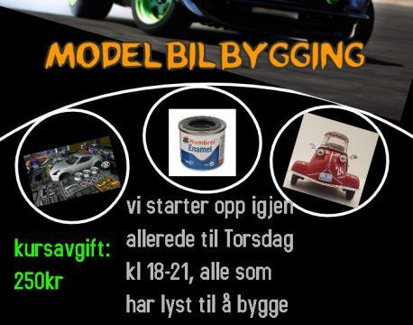 Har du lyst til å drive med modellbilbygging?
